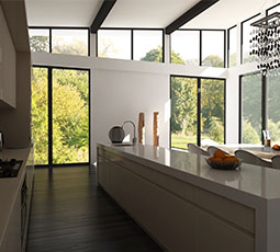 Big glass kitchen extension