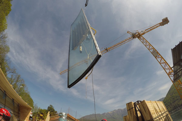 glass panel installation