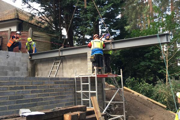 installing metal beams