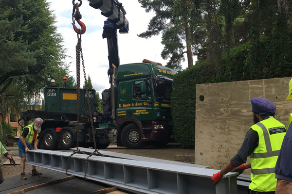 transporting metal beams