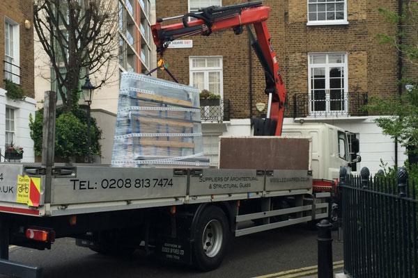 truck transporting materials