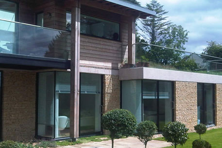 Glass Balustrade home exterior