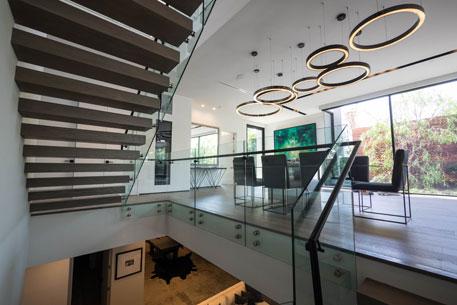 Glass Balustrade in living area