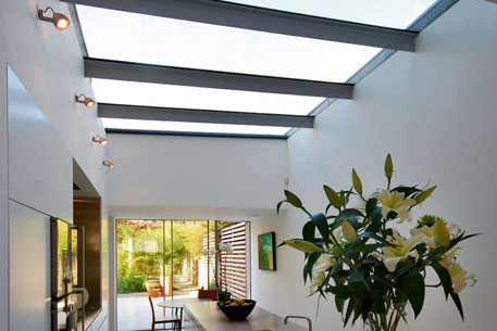 Glass Roofing in living area