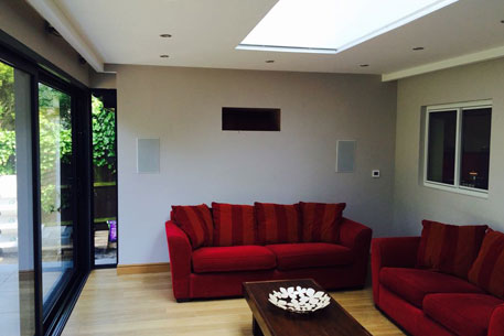 Rooflight in Living Room