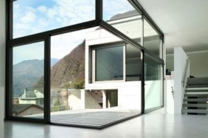 modern glass extension