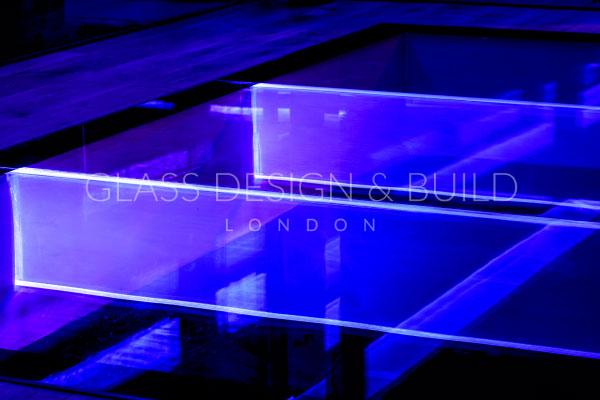 LED Glass Flooring Beams