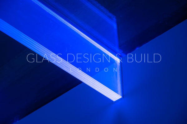 LED Glass Flooring Below