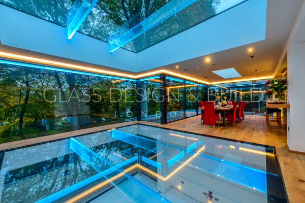 LED Glass Flooring