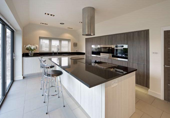 bright wintery kitchen